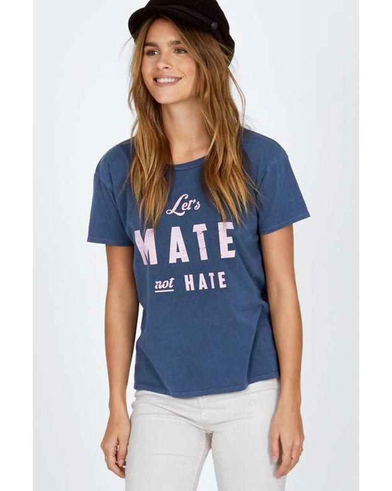 Amuse Society Let's mate not hate - Faded Indigo