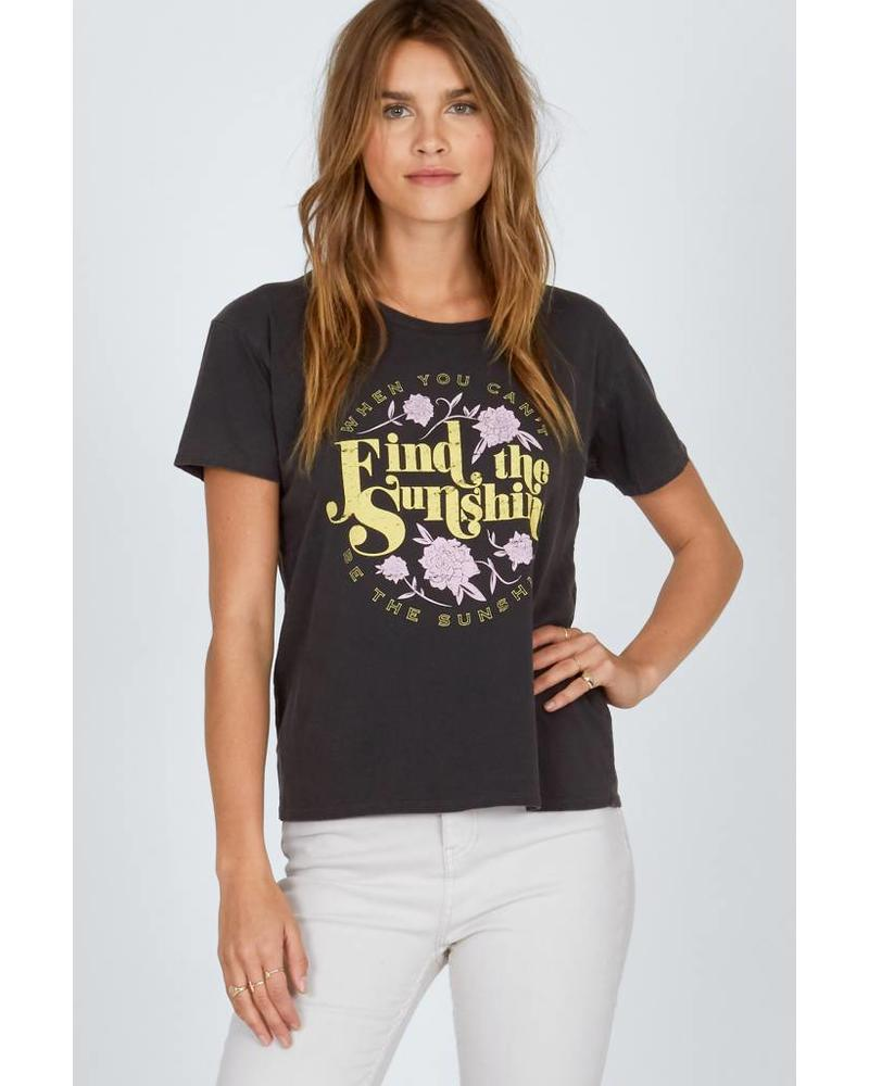 Amuse Society Find the sunshine Tee - Charcoal