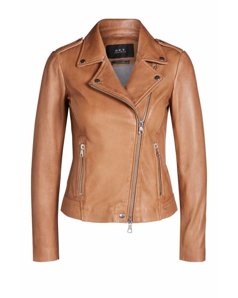 SET Leather Jacket - Toasted Coconut