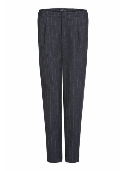 SET Striped trousers - Dk grey
