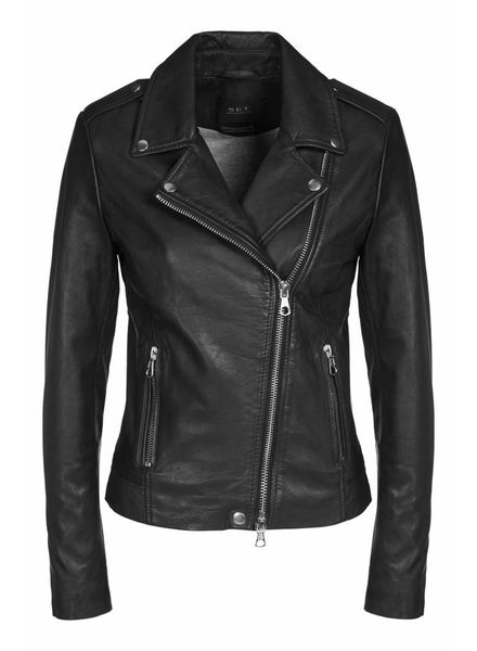 SET Leather Jacket - Black