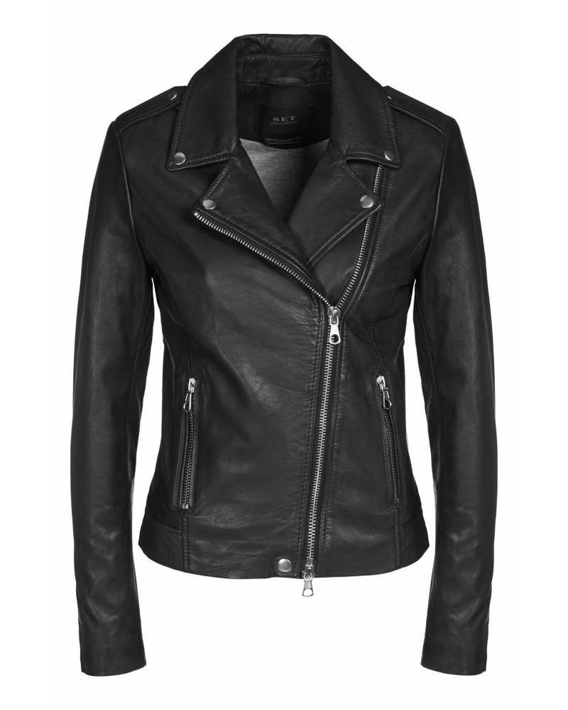 SET Leather Jacket - Black