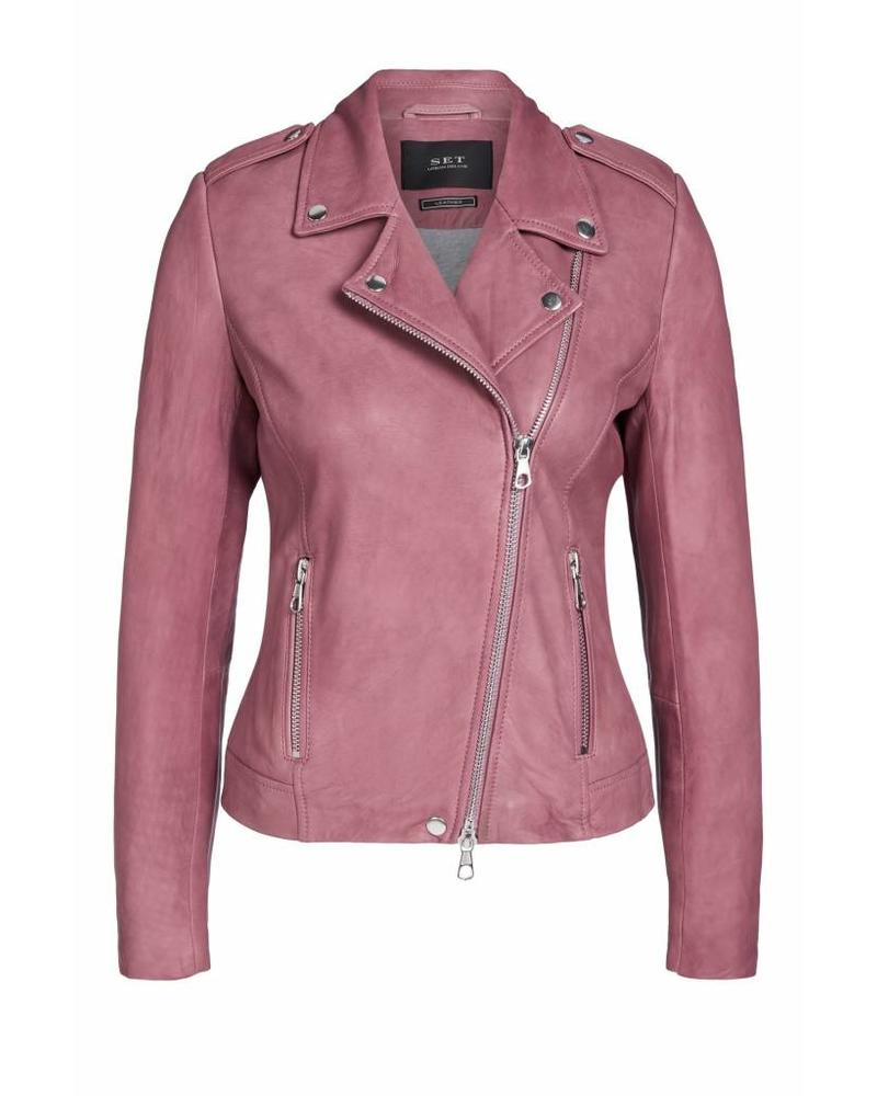 SET Leather jacket - Mauve