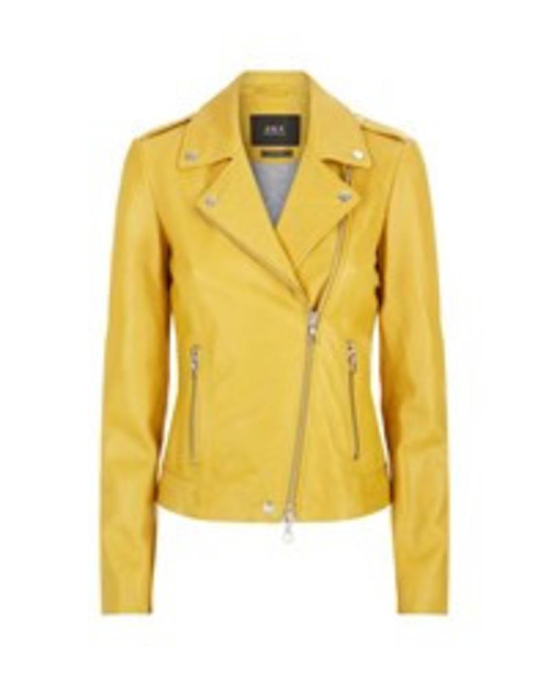 SET Leather jacket - Yellow