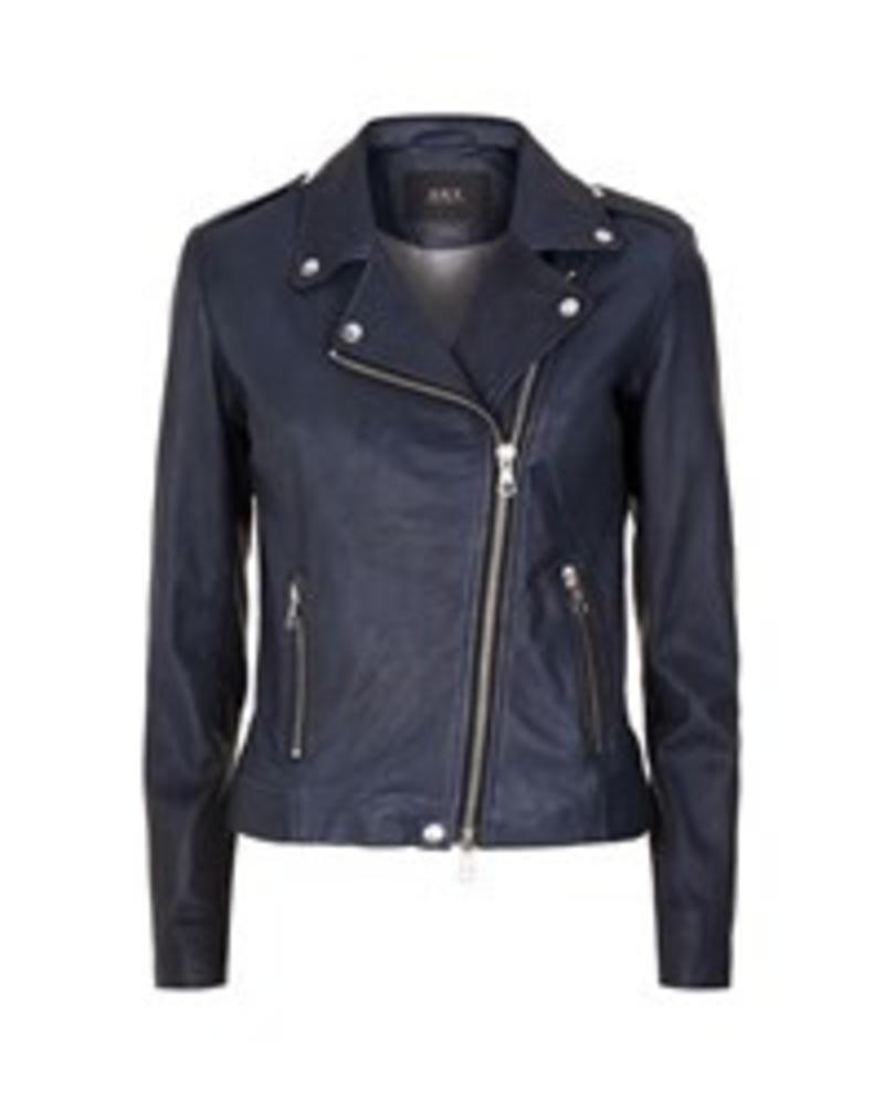 SET Leather jacket - Dark Blue