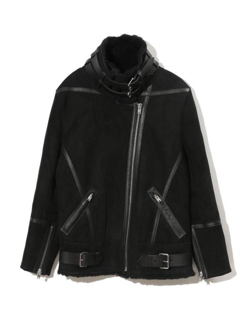 Iro Barrett shearling jacket - Black