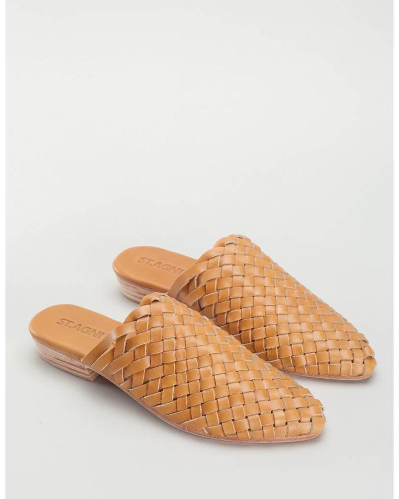 St. Agni Paris Woven Mules - Vintage Tan