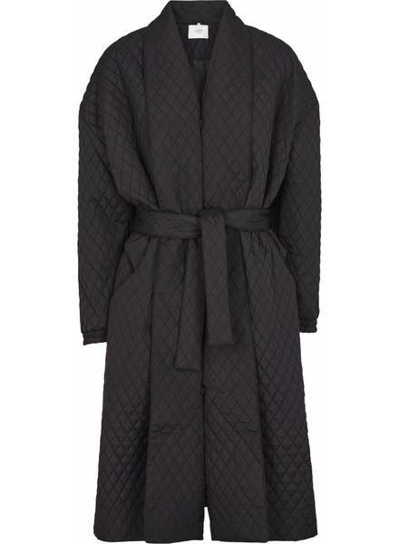 Just Female Quilt maxi coat -  Black