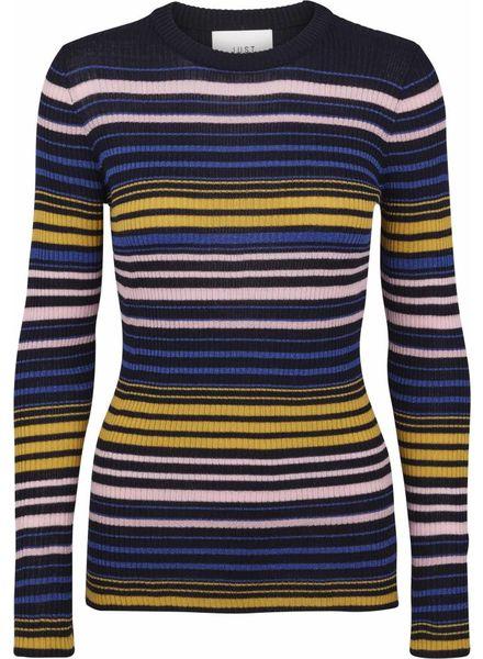 Just Female Crystal knit - Multi stripe