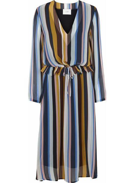 Just Female Romain dress - Multi stripe aop