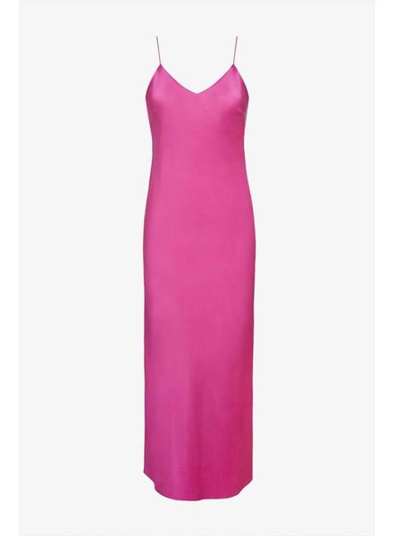 Anine Bing Rosemary Silk slip dress - Pink