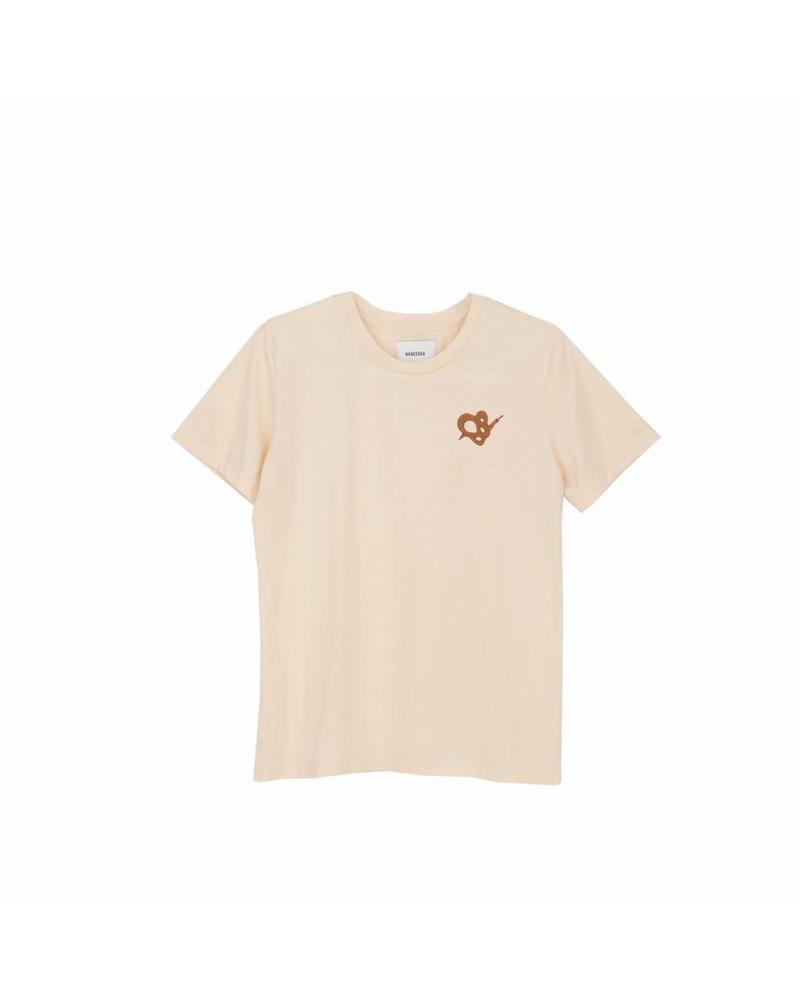 Nanushka Goz T-shirt - Snake creme