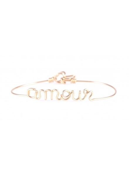 "Atelier Paulin Bracelet ""Amour"" - 14k Yellow"