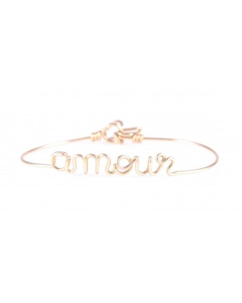 """Atelier Paulin Bracelet """"Amour"""" - 14k Yellow"""