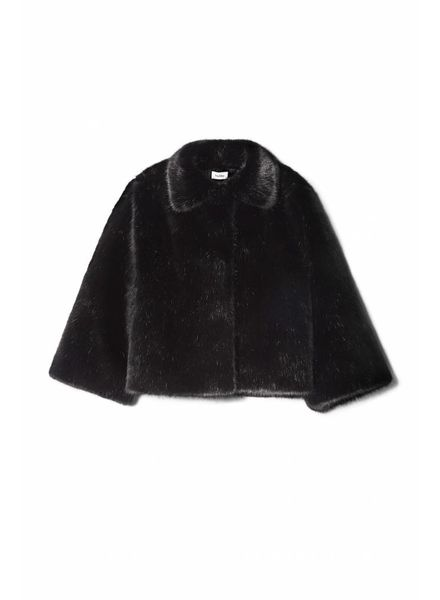 Totême Chatel Faux Fur Jacket - Black