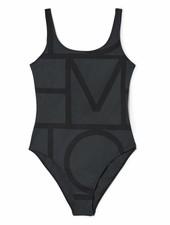 Totême Positano swimsuit - Black monogram