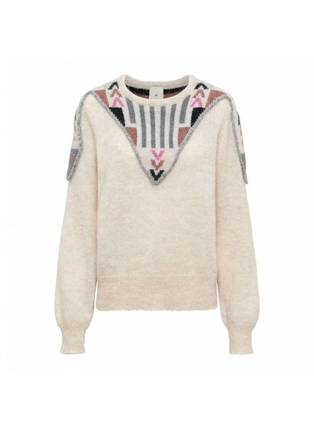 Julie Fagerholt Kelpy Sweater - Off-White Print