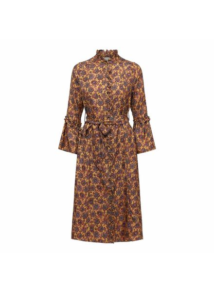 Julie Fagerholt Harin Dress - Brown Print