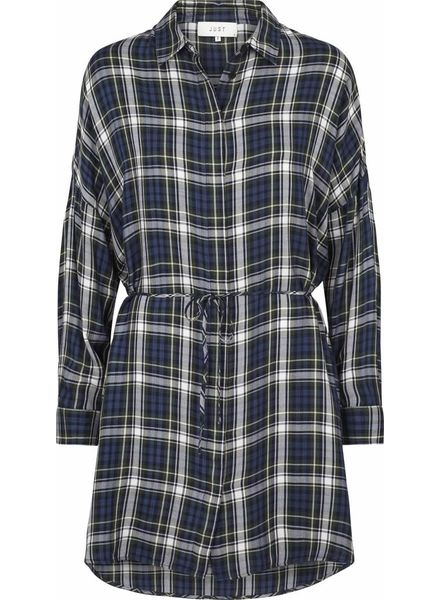 Just Female Ray shirt dress - Green check