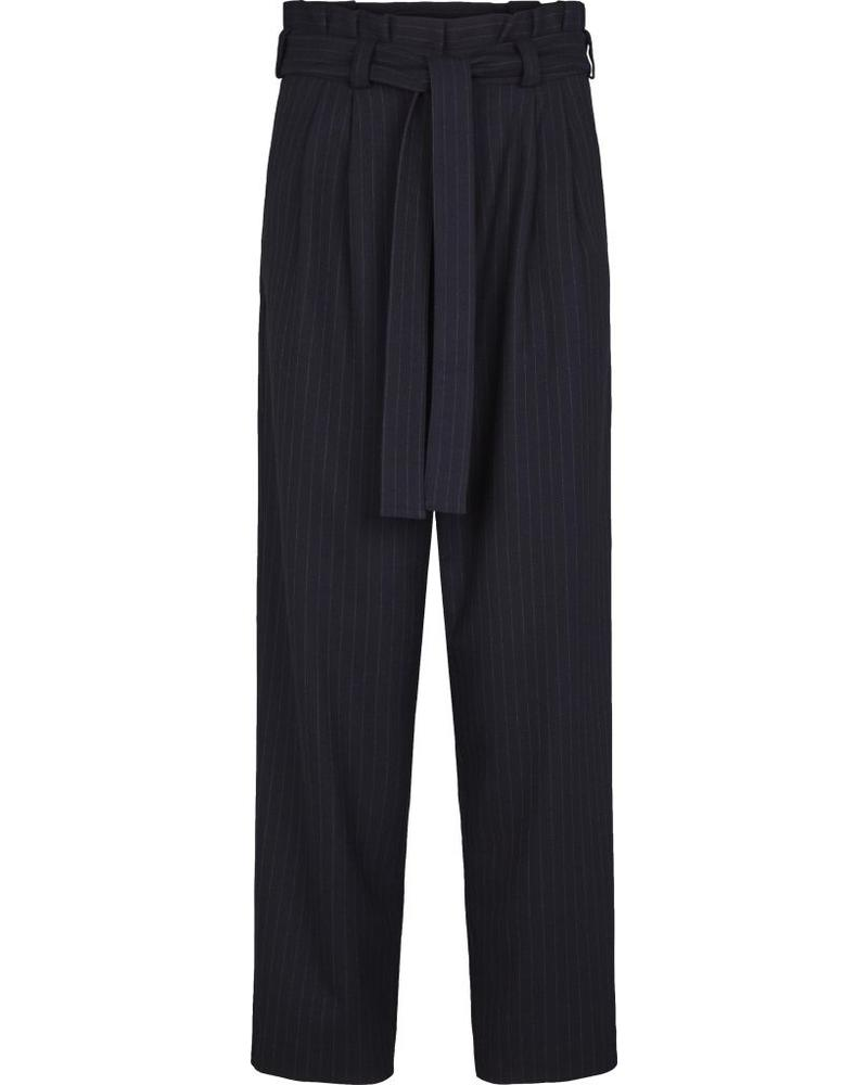 Just Female Lily trousers - Blue Pinstripe