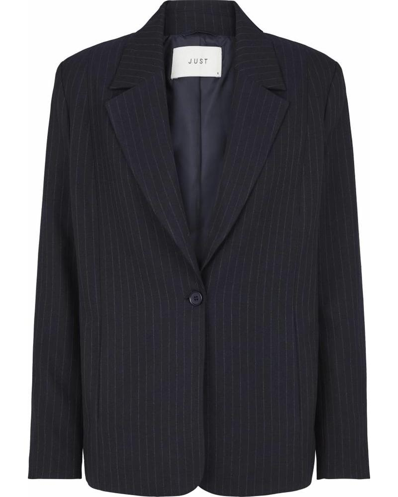Just Female Lily blazer - Blue pinstripe