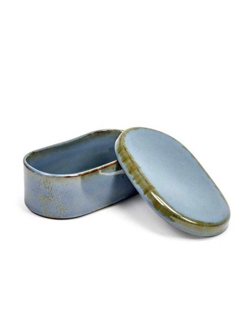 Anita Le Grelle for Serax Botervlootje ovaal - Smokey Blue