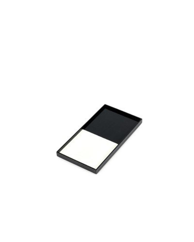 Dienblad - Zwart/Wit  30x15cm