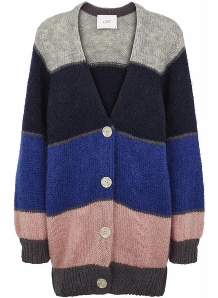 Just Female Silje cardigan - Mix stripe