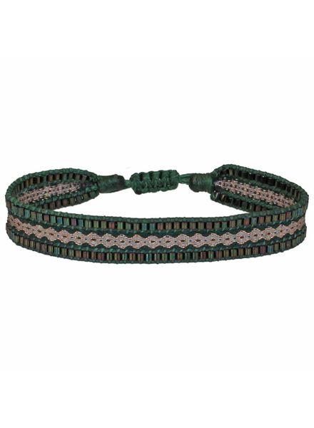 Beaded Bracelet - Pine Green