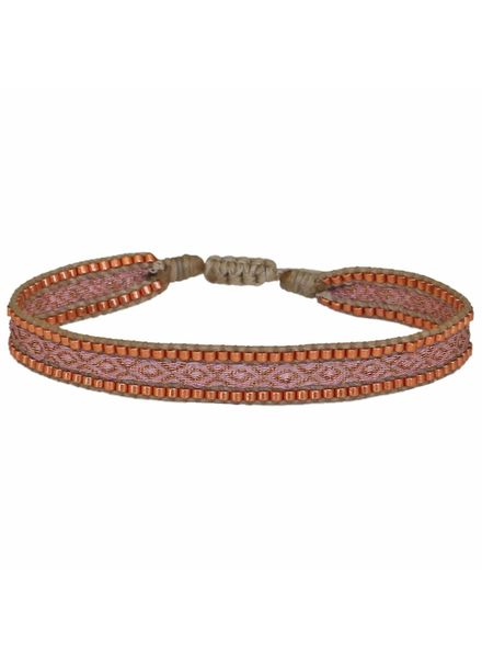 Beaded Bracelet - Rose Copper