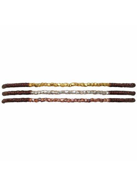 Thin bracelet - Burgundy