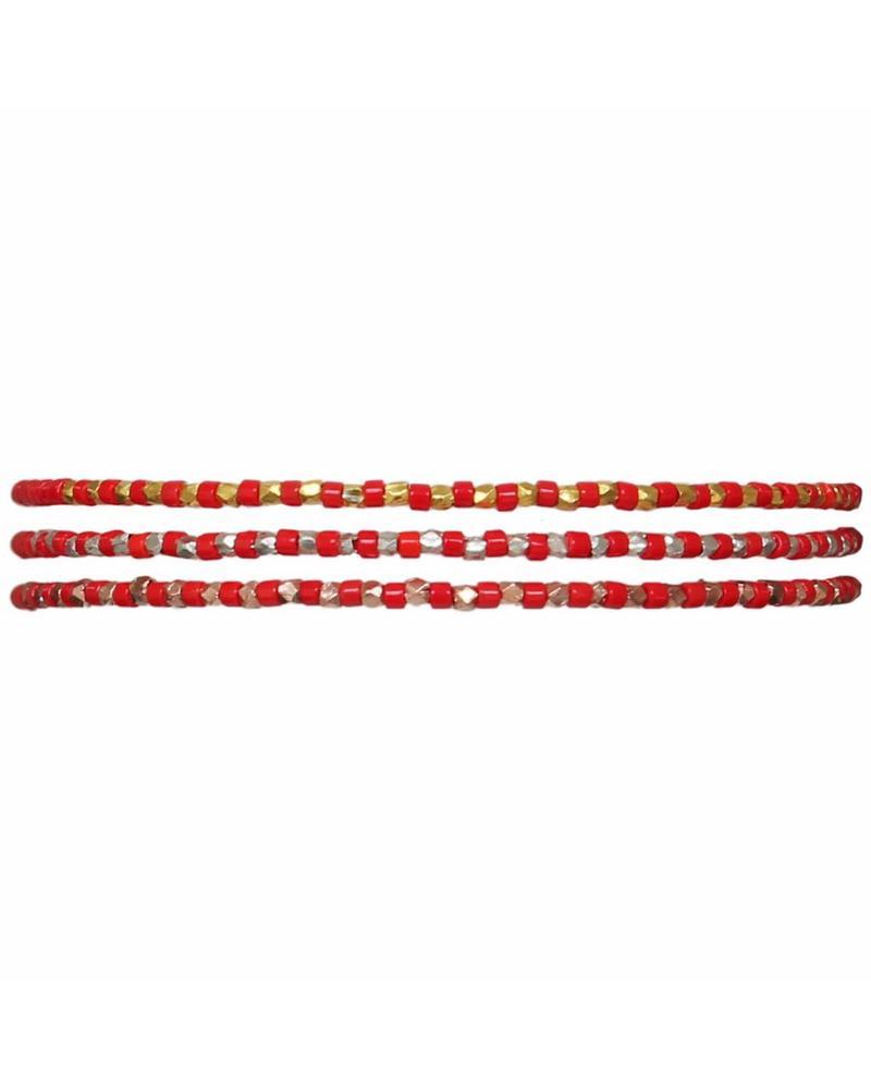 Bracelet Slinky - Poppy Red