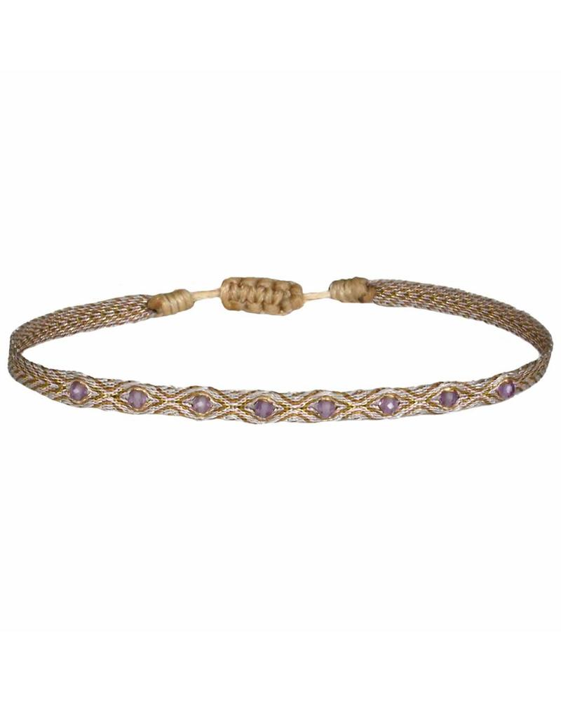Multi semi - precious bracelet - Amethyst