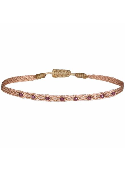 Multi semi - precious bracelet - Granate