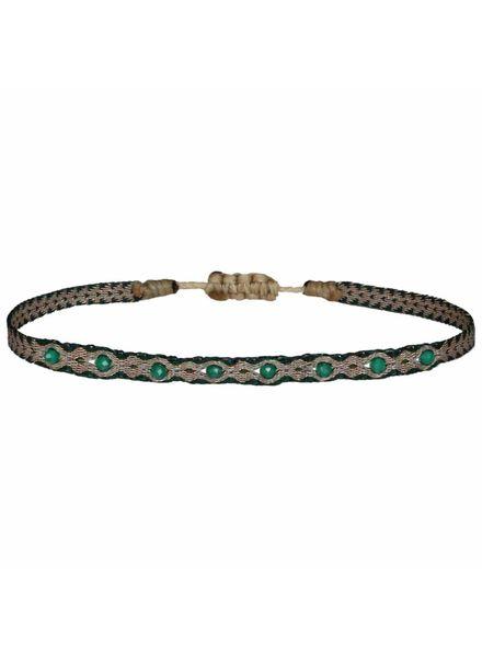 Multi semi - precious bracelet - Green Onyx