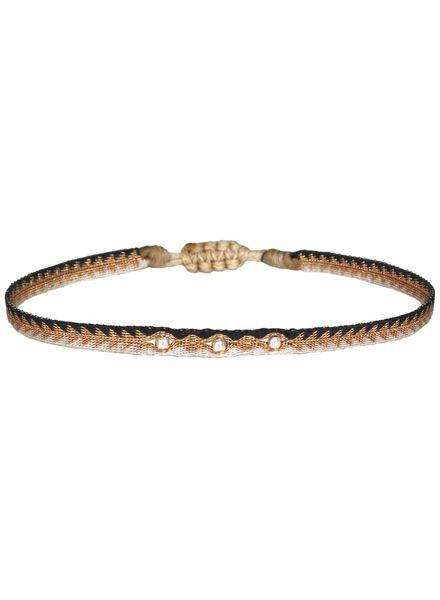 Silver beads argentinas bracelet - Beige