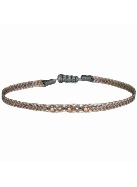 Gold beads argentinas bracelet - Khaki