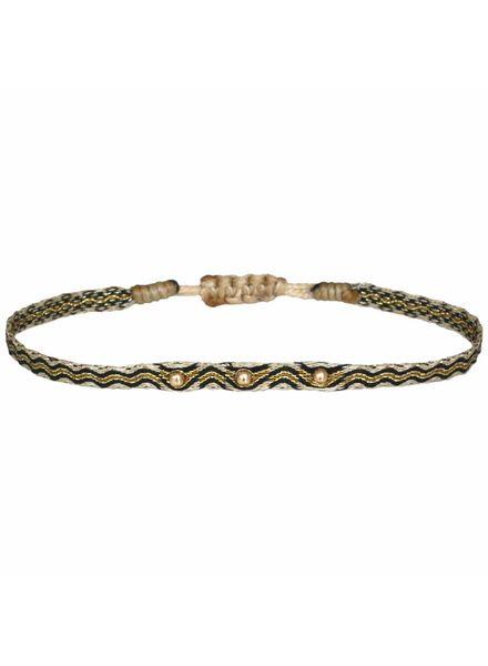 Gold beads argentinas bracelet - Black