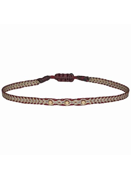 Gold beads argentinas bracelet - Bordeaux