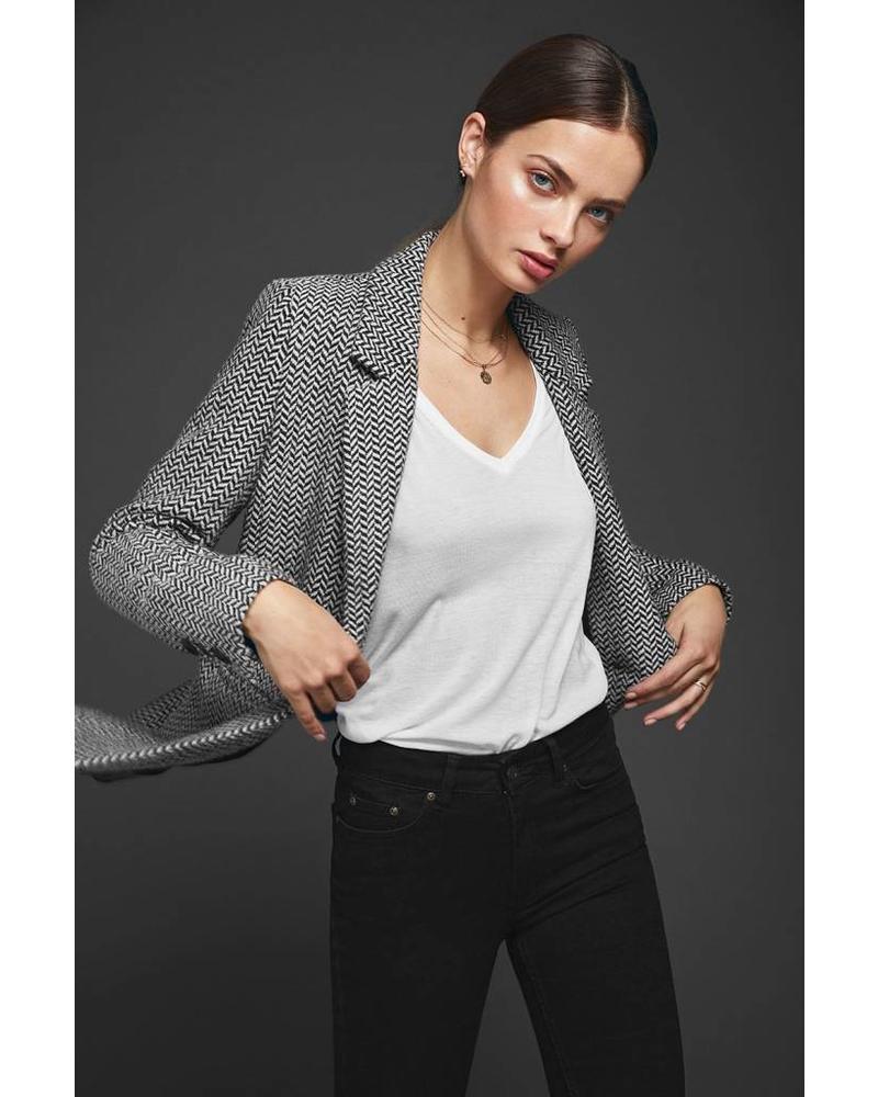 Anine Bing Fishbone blazer - Black&OffWhite