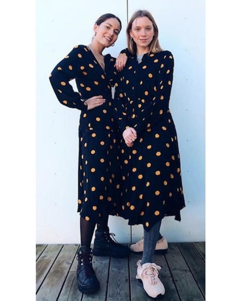 Just Female Neel dress - Apricot polka