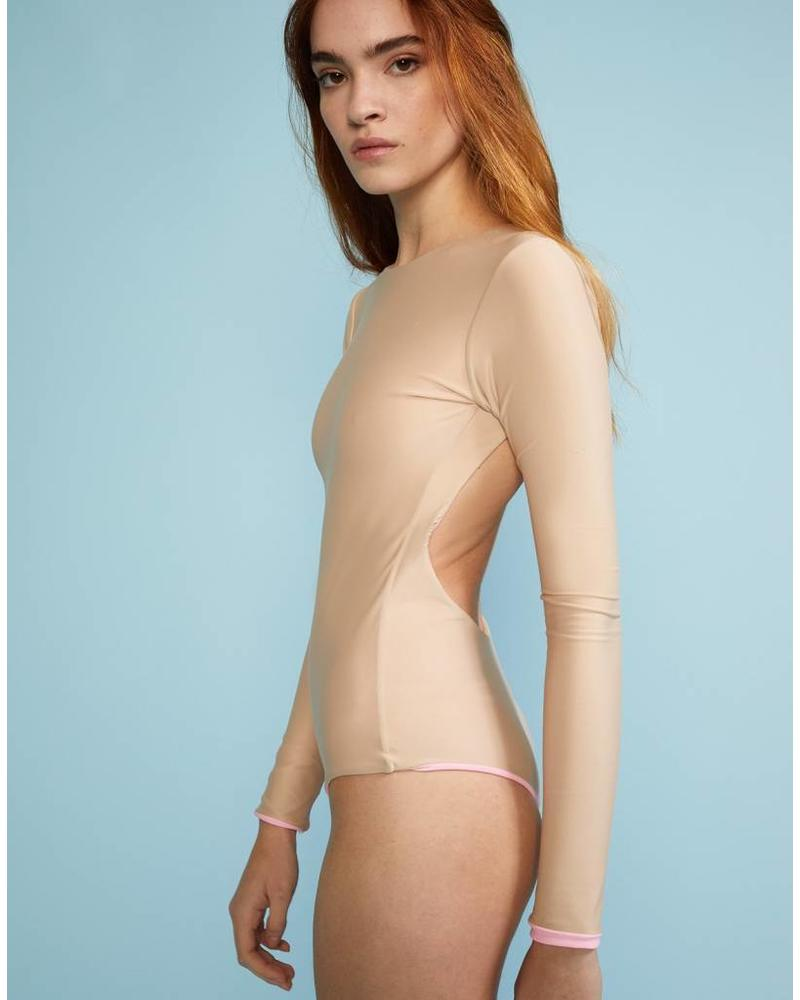 Cynthia Rowley Gemma surfsuit Reversible - Pink/Nude