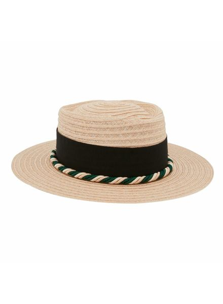 D'estrëe Gerhard straw hat - Naturel corde black