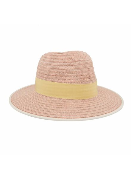 D'estrëe Christoper Straw Hat - Rose jaune