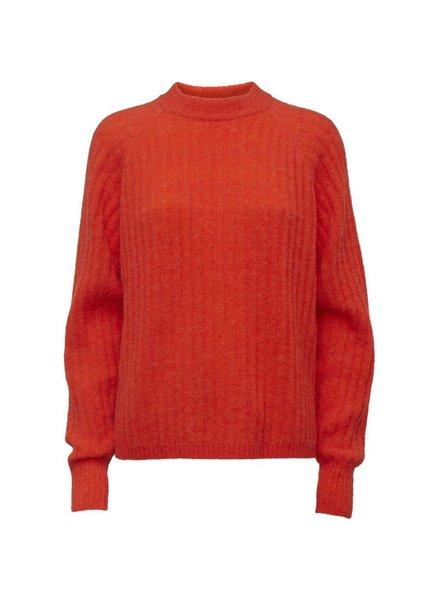 NORR Lila knit top - Strong Orange
