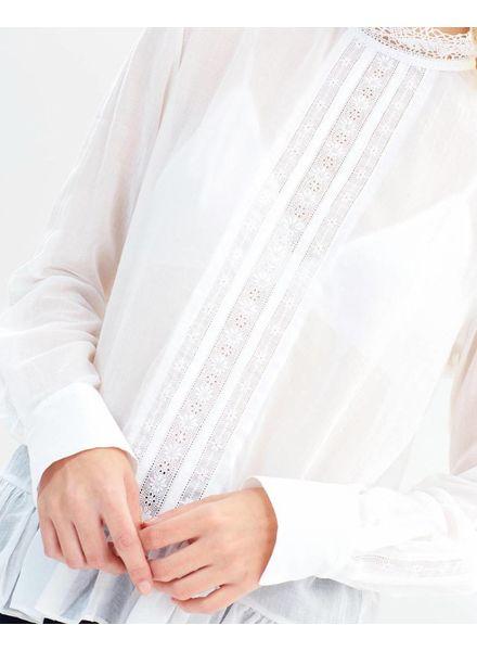 Matin Almere Lace trim Top - White