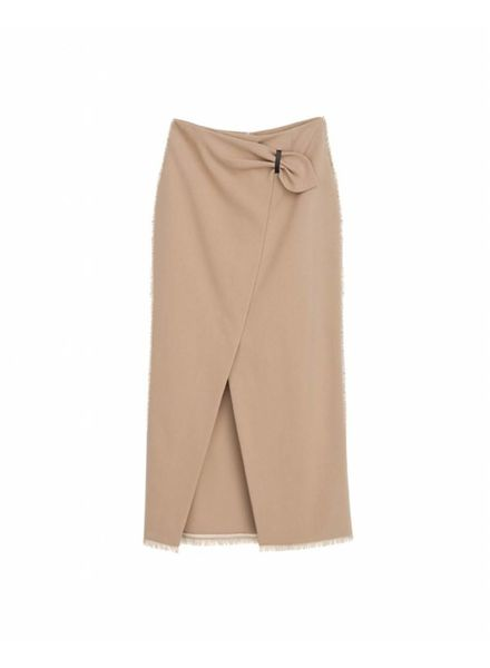 Nanushka Muse Wrap front pencil skirt - Camel