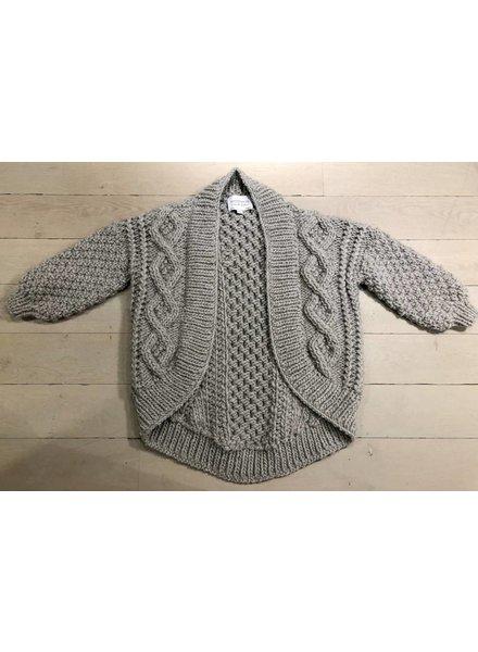I Love Mr Mittens Aran coat wool - Light Grey