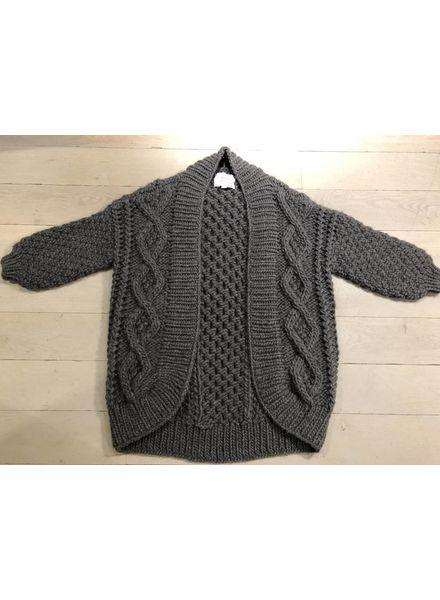 I Love Mr Mittens Aran coat wool - Charcoal