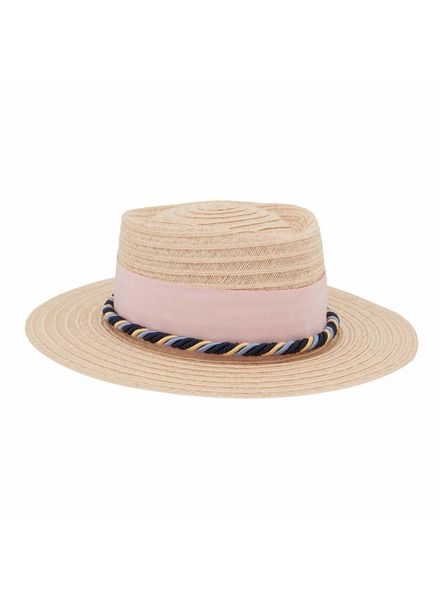 D'estrëe Gerhard straw hat - Naturel corde rose